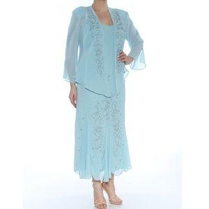 Formal Jacket Dress Size 14 Aqua Blue R&M RICHARDS